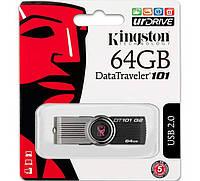 Флеш-накопичувач USB 64Gb Kingston DT101 Чорний, фото 1