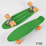 Скейт Пенні борд з світяться колесами, фото 2