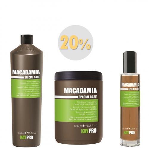 Macadamia Шампунь 1000мл + Кондиціонер 1000мл + Сироватка 100мл набір