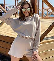 Женский спортивный костюм с шортами