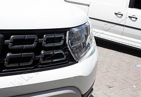 Накладки на решітку (2 шт., нерж) Renault Duster 2018↗ рр.