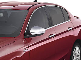 Fiat Tipo 2016↗ рр. Нижні молдинги стекол хром (нерж) SW (6 штук)