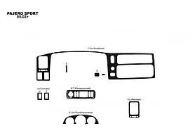 Mitsubishi Pajero Sport 1996-2007 рр. Накладки на панель (2002-2007)