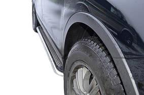 Mazda CX-9 2007-2016 рр. Бічні пороги Maydos V2 (2 шт., нерж)