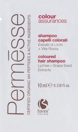 PERMESSE Шампунь для окрашенных волос с экстрактом личи и красного винограда 10мл