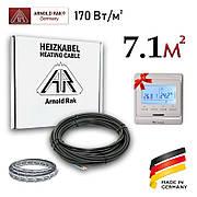 """Тепла підлога електричний на 7.1м2 (170Вт/м2) + Терморегулятор ; Кабель """"Arnold Rak"""" 1200W (60м/п)"""