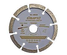 """139 Диск Craft відрізний алмазний """"segment""""  125*22,2мм, кут 45 градусів різання"""