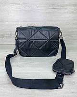 Женская сумка Роуз с кошельком экокожа 25*17*9 см черный