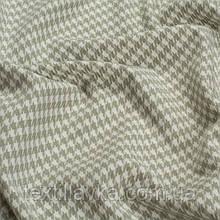 Лоскут корейской костюмной мелкая гусиная лапка 5мм зеленоватая