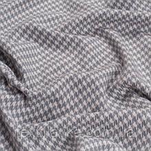 Лоскут корейской костюмной мелкая гусиная лапка 5мм серая