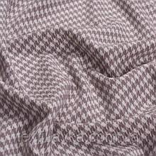 Лоскут корейской костюмной мелкая гусиная лапка 5мм пастельный фиолетовый