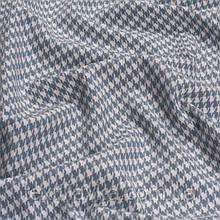 Лоскут корейской костюмной мелкая гусиная лапка 5мм сине-голубая