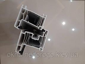 Металлопластиковое окно с фрамугой OpenTeck Elit (два открывания), фото 3