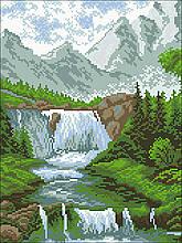 АМС-153. Водоспад. Алмазна мозаїка