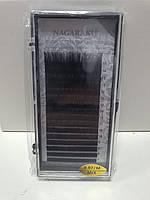Ресницы на ленте для наращивания, черные Nagaraku изгиб M черные, микс, 20 линий, Нагараку