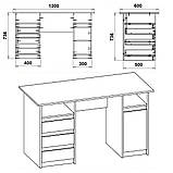 Письмовий стіл Декан 2, фото 9
