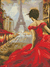 АМС-154. Леді в червоному. Алмазна мозаїка