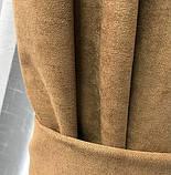 Комплект штор на люверсах з тюлем Штори на люверсах 200х270 + тюль 500х270 Штори з підхватами Колір Кавовий, фото 4
