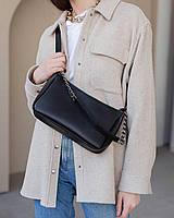 Жіноча сумка Луна екошкіра 27*16*7 см чорний 62224