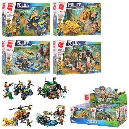 KM1919 Конструктор полиция Qman: транспорт, фигурки, 98 деталей, в коробке размер 45,5-15-19,5 см