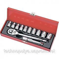 Набір торцевих головок МТХ 1/2 головки 10-24 мм з трещеточним механізмом. ключем 12 предметів (135269)