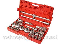 Набір торцевих головок МТХ квадрат 3/4-1 головки 21 х 65 мм 26 предметів пластиковий бокс (135399)