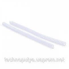Спіраль пластикова для оправлення Agent A4 25 шт 4:1 38 мм Біла (6927920170702)