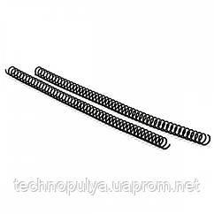 Спіраль пластикова для оправлення Agent A4 25 шт 4:1 38 мм Чорна (6927920170719)