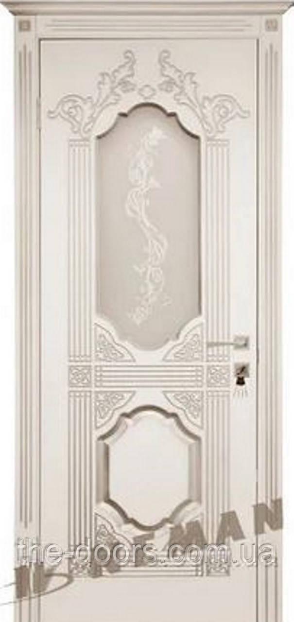 Двери Неман ВИП модель Корона стекло сатин