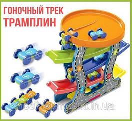 Швидкісний спуск Гоночний пластиковий трек Паркінг з машинками 5 рівнів, упаковка пакет