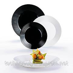 Сервиз столовый LUMINARC HARENA BLACK&WHITE, 18 предметов (6349061)