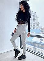Жіночі стильні спортивні штани джоггеры на флісі