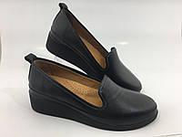 Турецкие ортопедические кожаные женские туфли