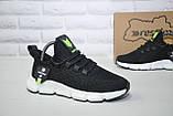 Легкі підліткові чорні кросівки для бігу, повсякденні сітка Restime унісекс, фото 3