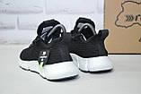 Легкі підліткові чорні кросівки для бігу, повсякденні сітка Restime унісекс, фото 2