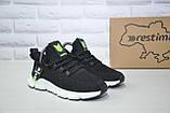 Лёгкие подростковые черные кроссовки для бега, повседневные сетка Restime унисекс, фото 4