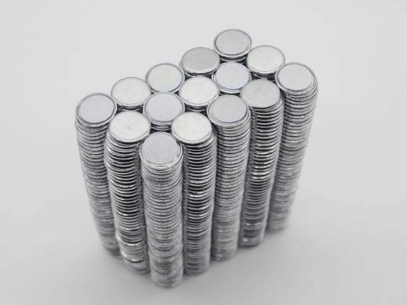 Неодимові магніти. Закруглені краї. 15х2мм, фото 2