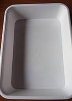 Лоток пластиковий білий Ал-Пластик №4 9,4 л. 460х335х90мм, фото 1