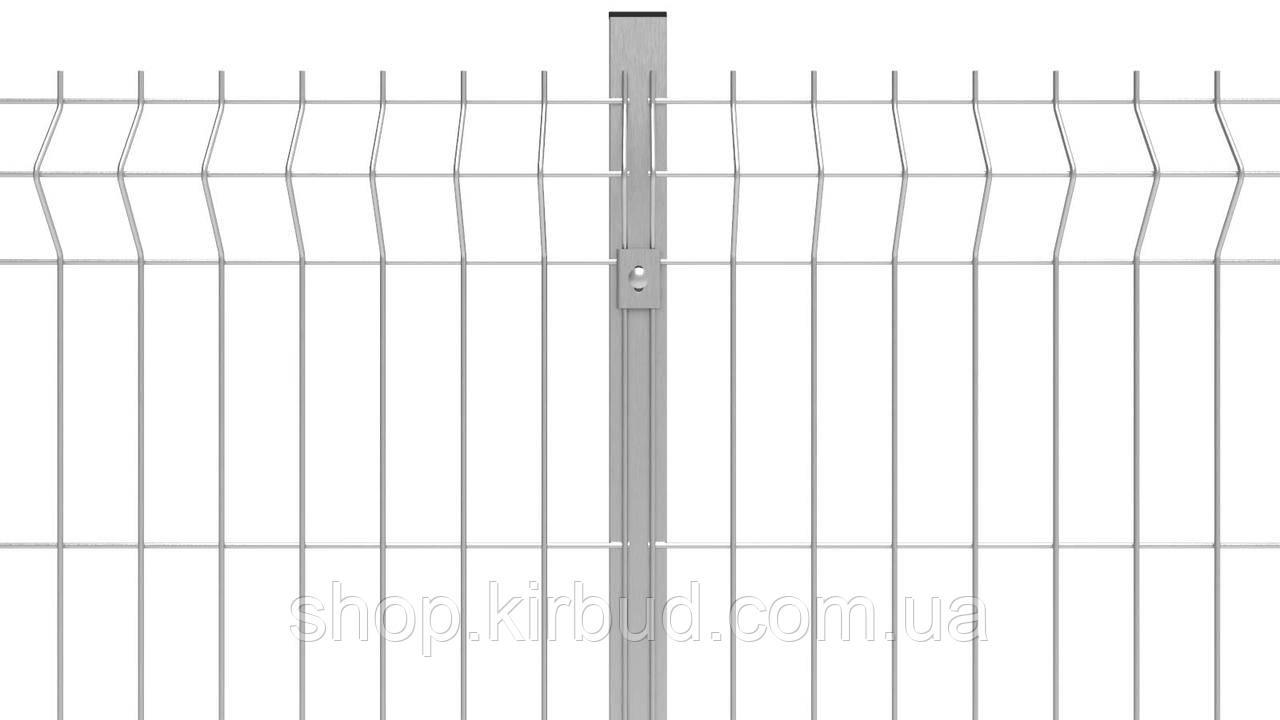 Парканна секція 2180ммх2000мм Оцинкований дріт 4/4 мм