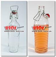 """Бутылка 1,2л стеклянная с бугельной крышкой """"Officina"""" Bormioli Rocco (Италия), фото 1"""