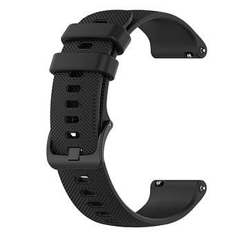 Силіконовий ремінець Primolux для смарт-годинника Garmin Vivoactive 4S - Black
