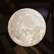 Лампа Луна Moon Lamp 16 цветов (+деревянная подставка и пульт) 15 см