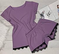 Модный комплект футболка и шорты женские.