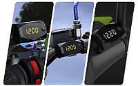 Универсальный вольтметр термометр часы на руль мотоцикла 12V скутера автомобиля квадроцикла