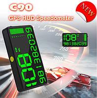 Автомобильный цифровой GPS Спидометр HUB C90 (екран 5.5 дюймов) Speedometer GPS спидометр универсальный 12-24V