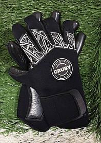 """Перчатки вратарские GRUBY """"X"""" неопрен черные"""