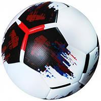 Мяч футбольный OMB Ball бело-черно-красный (размер 5 и 4)