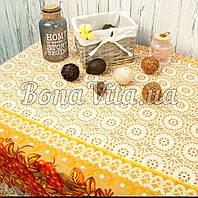 Лляна скатертина р. 120*150 на кухонний стіл N-473