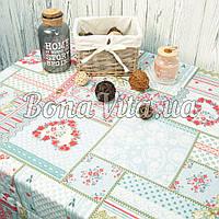 Лляна скатертина р. 120*150 на кухонний стіл N-474