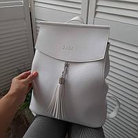 Жіночий модний рюкзак білий еко шкіра